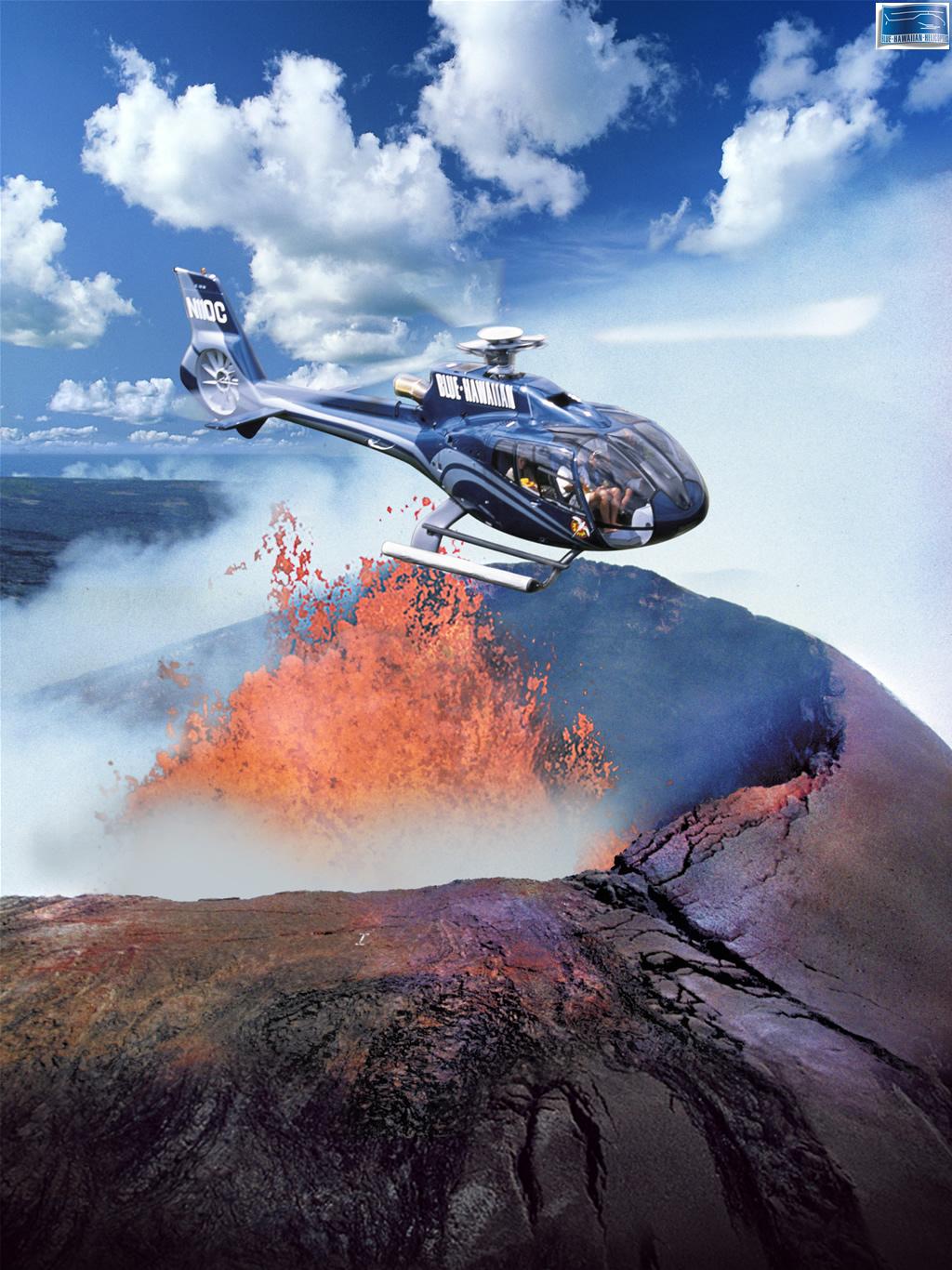 ハワイの壁紙 ブルーハワイアンヘリコプターズ ハワイ島3